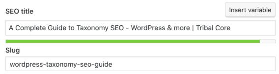 SEO Title WordPress via Yoast