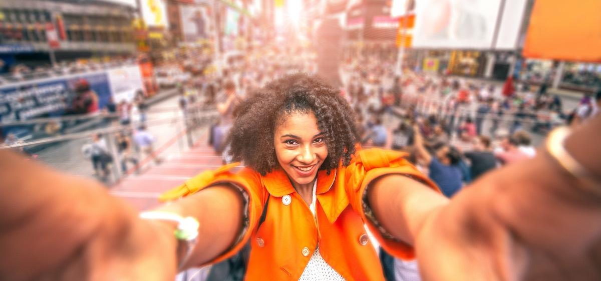 Social Media Idea: A Selfie in Times Square!